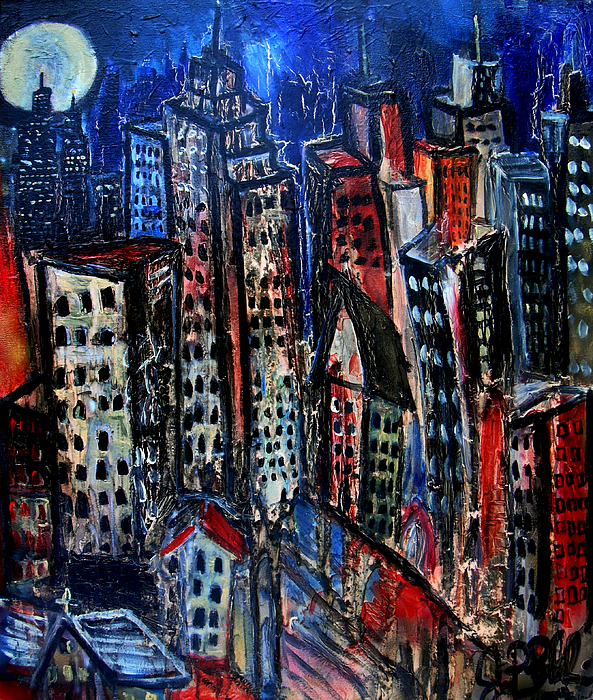 Cityscapes Painting - Caught Between Scylla And Charybdis by Jon Baldwin  Art
