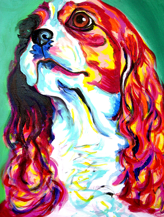 Dog Painting - Cavalier - Herald by Alicia VanNoy Call