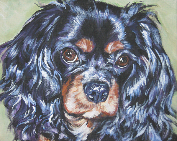 Cavalier King Charles Spaniel Painting - Cavalier King Charles Spaniel Black And Tan by Lee Ann Shepard