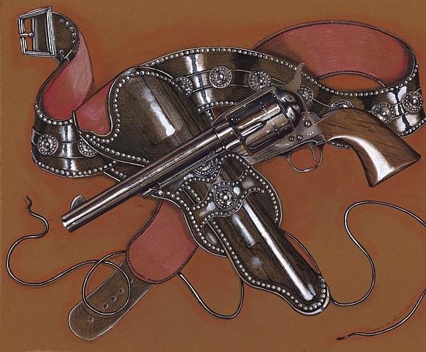 Gunbelt Drawing - Cavalry Honor by Ricardo Reis