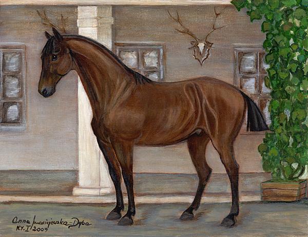 Folkartanna Painting - Cavalry Horse by Anna Folkartanna Maciejewska-Dyba