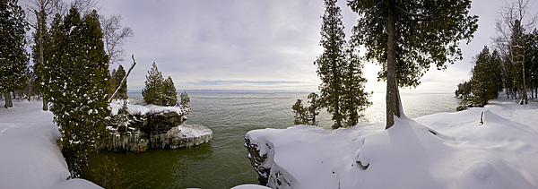 Cave Point Park Photograph - Cave Point Panorama by Richard Steinberger