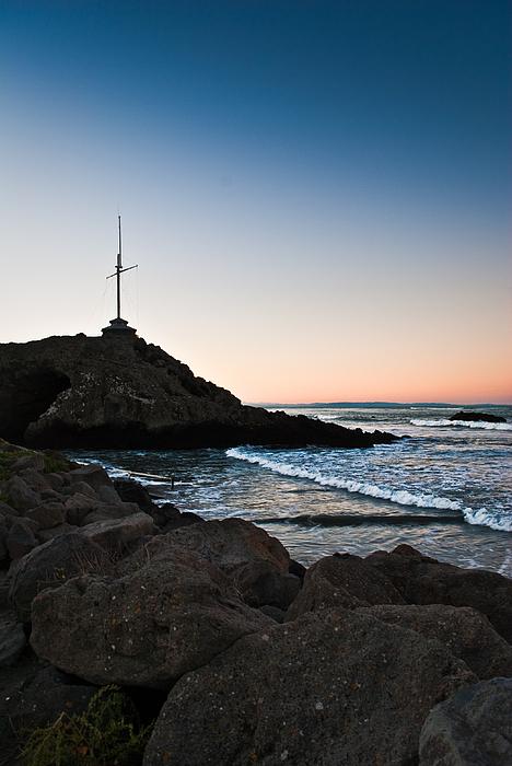 Landscape Photograph - Cave Rock Cross by Lee Malzard