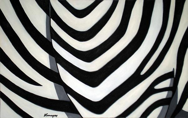Cebra Painting - Cebras 2 by Juan Antonio Venegas