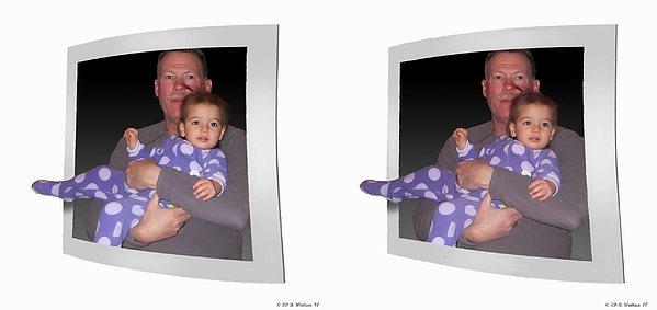 3d Photograph - Cece - Gently Cross Your Eyes And Focus On The Middle Image by Brian Wallace