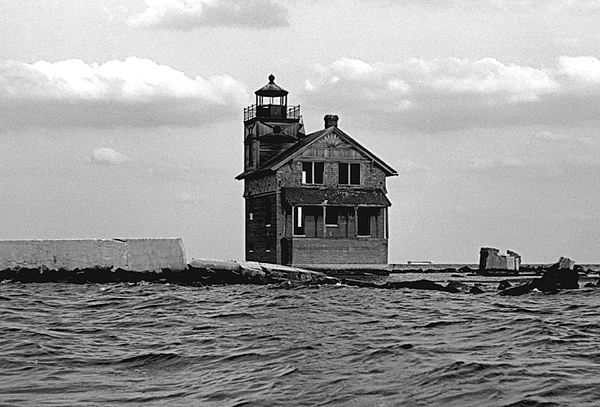 Lighthouse Photograph - Cedar Point Light Chesapeake Bay Maryland Vintage 1960 by Wayne Higgs