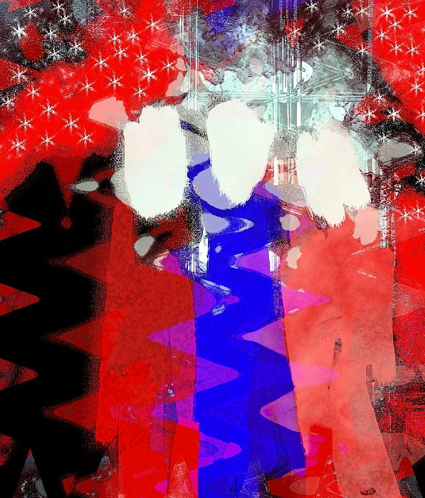 4th Of July Painting - Celebration 3 by Mimo Krouzian