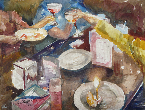 Friends Painting - Celebration by Dorothy Herron