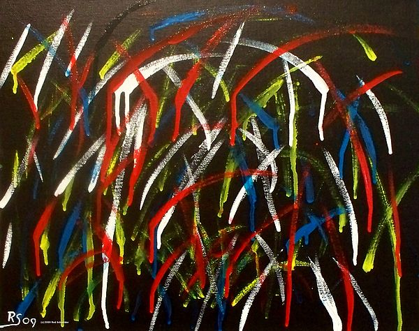 Abstract Painting - Celebration by Rod Schneider