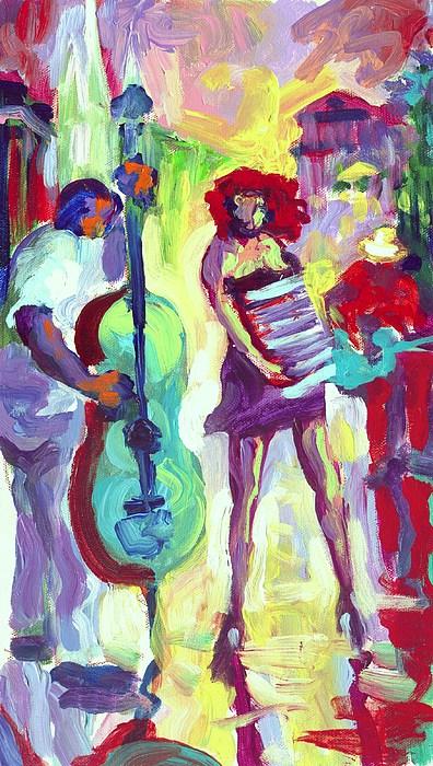 Cello Painting - Cello by Saundra Bolen Samuel