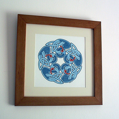 Celtic Painting - Celtic Blue Birds by Ruairi Mc