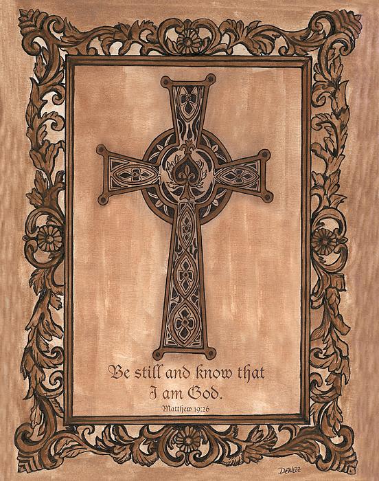 Cross Painting - Celtic Cross by Debbie DeWitt