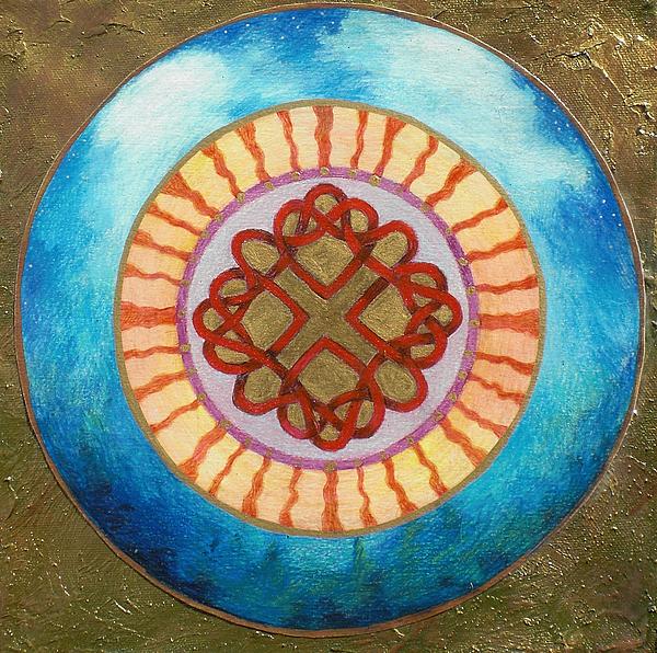 Celtic Knot Mixed Media - Celtic Heart Knot Mandala by Jo Thompson