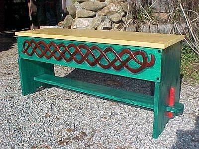 Celtic Knotwork Bench Relief by Christina White