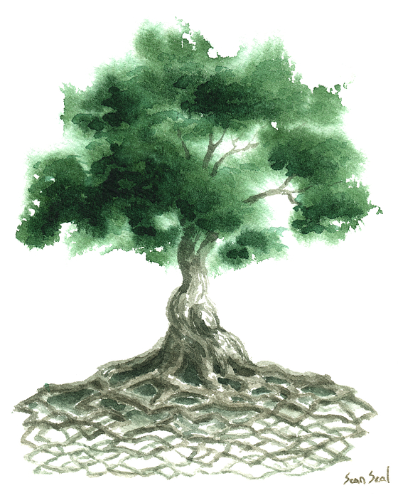 Zen Tree Painting - Celtic Tree Of Life by Sean Seal