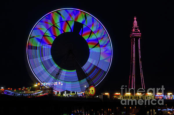 Blackpool Photograph - Central Pier Blackpool by Steev Stamford