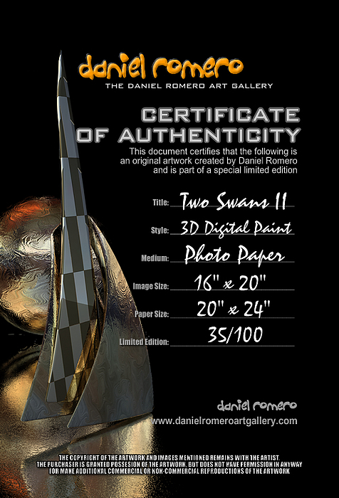Certificate of authenticity sample painting by daniel romero certificate of authenticity painting certificate of authenticity sample by daniel romero yelopaper Images