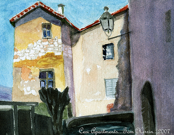 Italy Painting - Cesi Apartments Italy by Tom Herrin