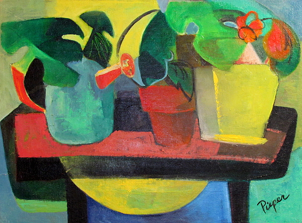 Potting Stand Painting - Cezanne Potting Stand by Betty Pieper