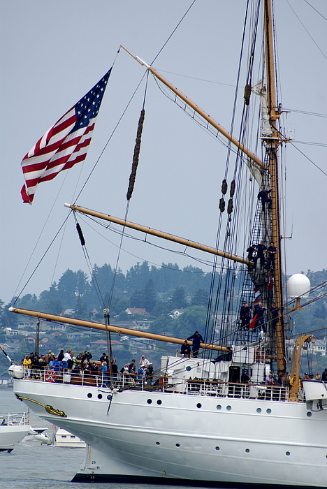 Tall Ships Photograph - Cgc Eagle by Sonja Anderson