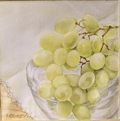 Still Life Painting - Chablis To Be by Irene Corey