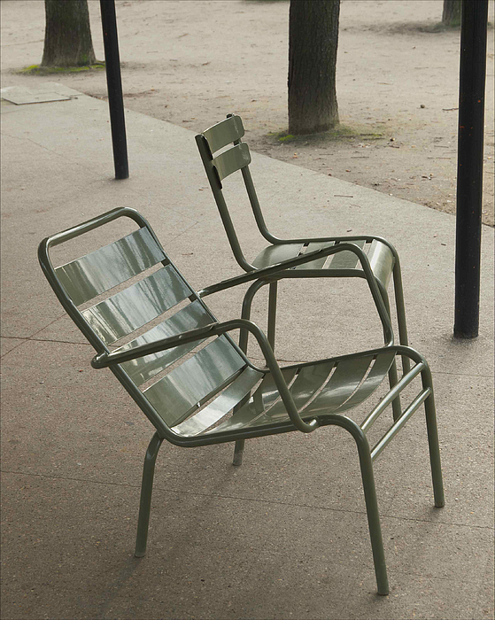 Chairs Photograph - Chairs At Jardin Du Luxembourg by Paolo Pizzimenti
