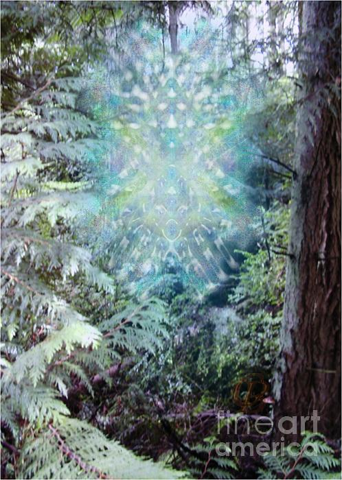 Tree Digital Art - Chalice-tree Spirit In The Forest V3 by Christopher Pringer