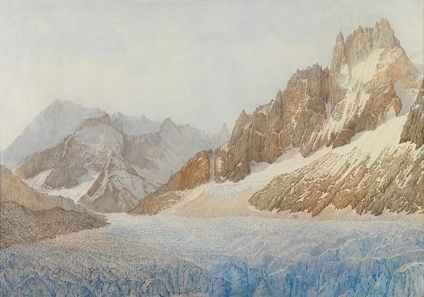 Chamonix Painting - Chamonix by SIL Severn