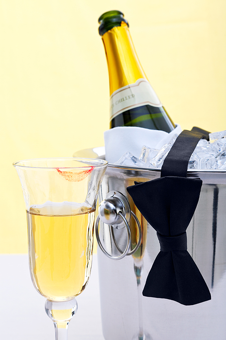 Champagne Photograph - Champagne Black Tie And Lipstick by Richard Thomas