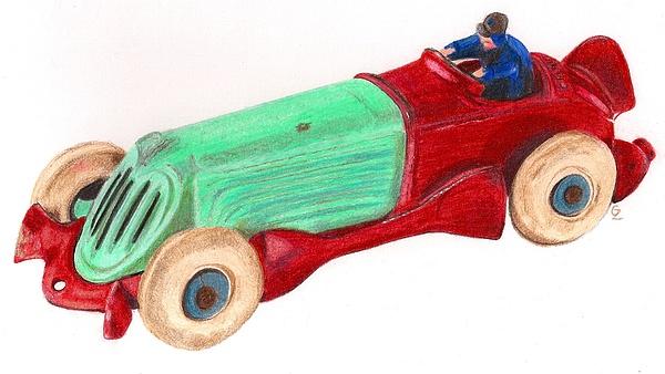 Drawing Drawing - Champion Racer by Glenda Zuckerman