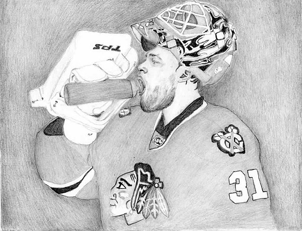 Goalie Drawing - Championship Goalie by Kiyana Smith
