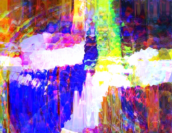 Colorful Mixed Media - Changing Color by Fania Simon