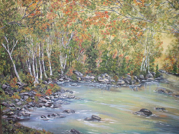 Fall Painting - Changing Seasons by Bev  Neely