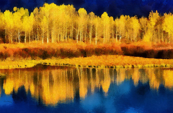 Aspen Painting - Changing Seasons by Russ Harris