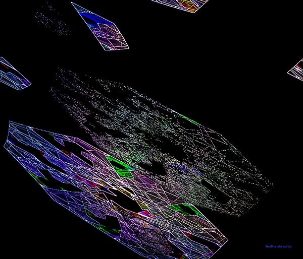 Abstract Digital Art - Chaos Light Form 2 by Ferdinando Sorbo