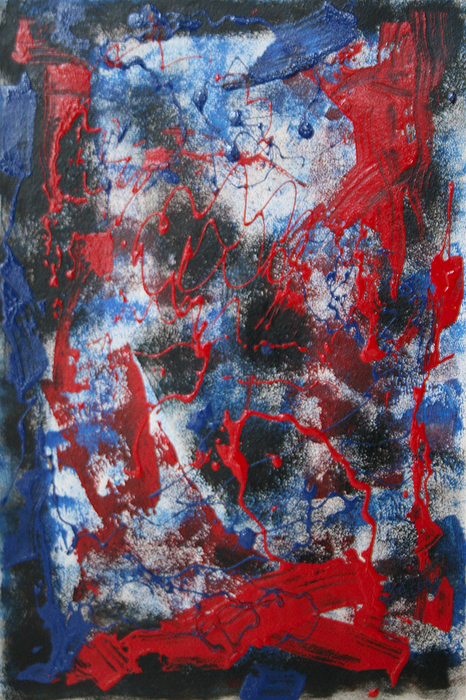 Abstract Painting - Chaos by Mordecai Colodner