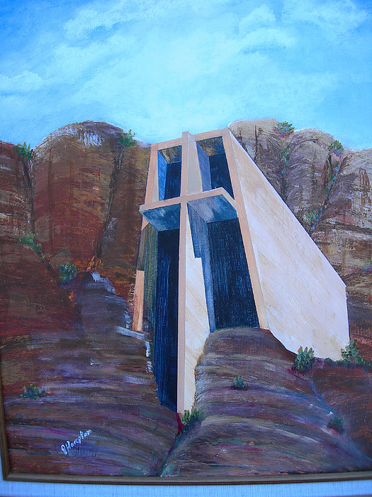 Landscape Painting - Chapel In The Mountains by Jack Hampton