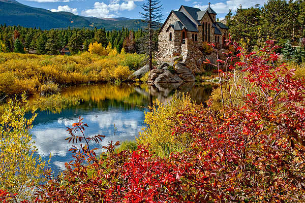Colorado Photograph - Chapel On The Rock Fall by Jennifer Grover
