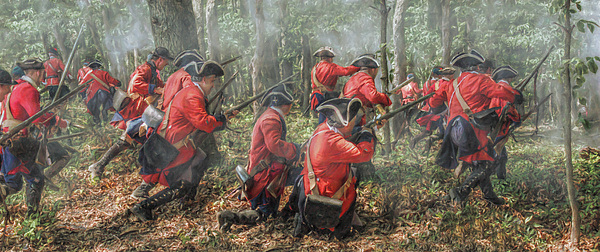 War Digital Art - Charge Of The 60th Royal Americans Regiment At Bushy Run by Randy Steele