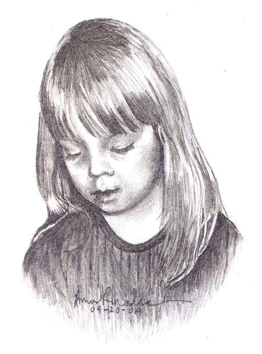 Portrait Painting - Charidy by Anne Rhodes