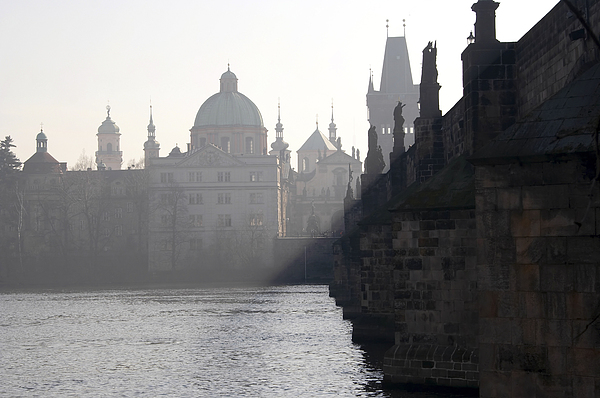 Bridge Photograph - Charles Bridge At Early Morning by Michal Boubin