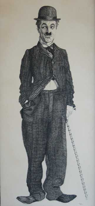 Charlie Chaplin Drawing - Charlie by Joanie Arvin