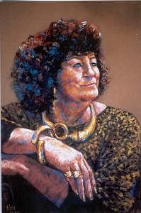 Portrait Painting - Charlotte Bejewelled by Tina Siddiqui