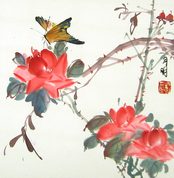 Chinese Painting Painting - Charm Of Nature by Ming Yeung