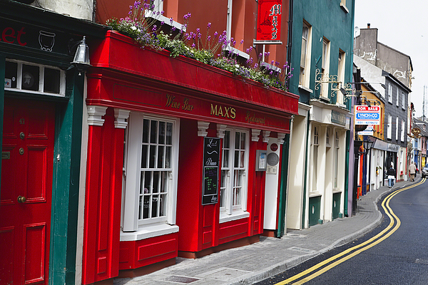 Europe Photograph - Charming Narrow Street In Kinsale by George Oze