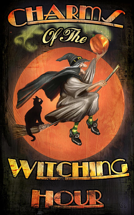Witch Digital Art - Charms Of The Witching Hour by Joel Payne