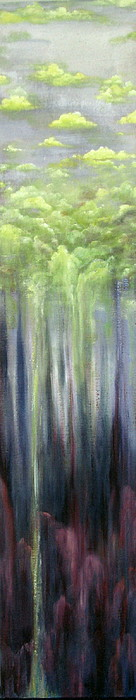 Abstract Painting - Chartreuse Clouds by Judy Merrell