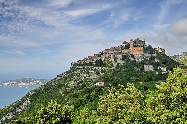Landscape Photograph - Chateau Deze On The Road To Monaco by Allen Sheffield