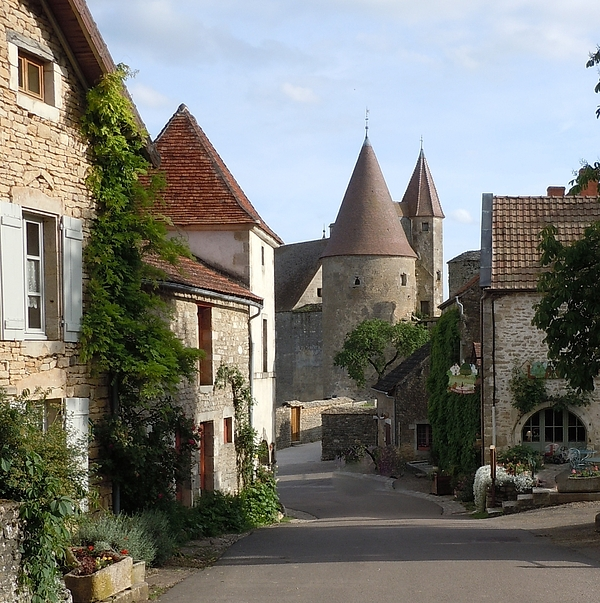 Europe Photograph - Chateauneuf En Auxois Burgundy France by Marilyn Dunlap