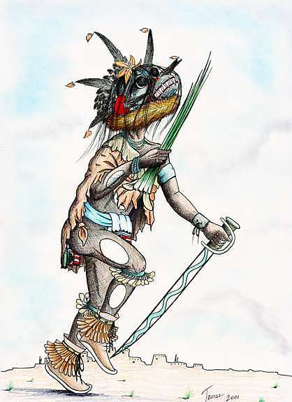 Ogre Mixed Media - Chaveyo-ogre Kachina by Rick James